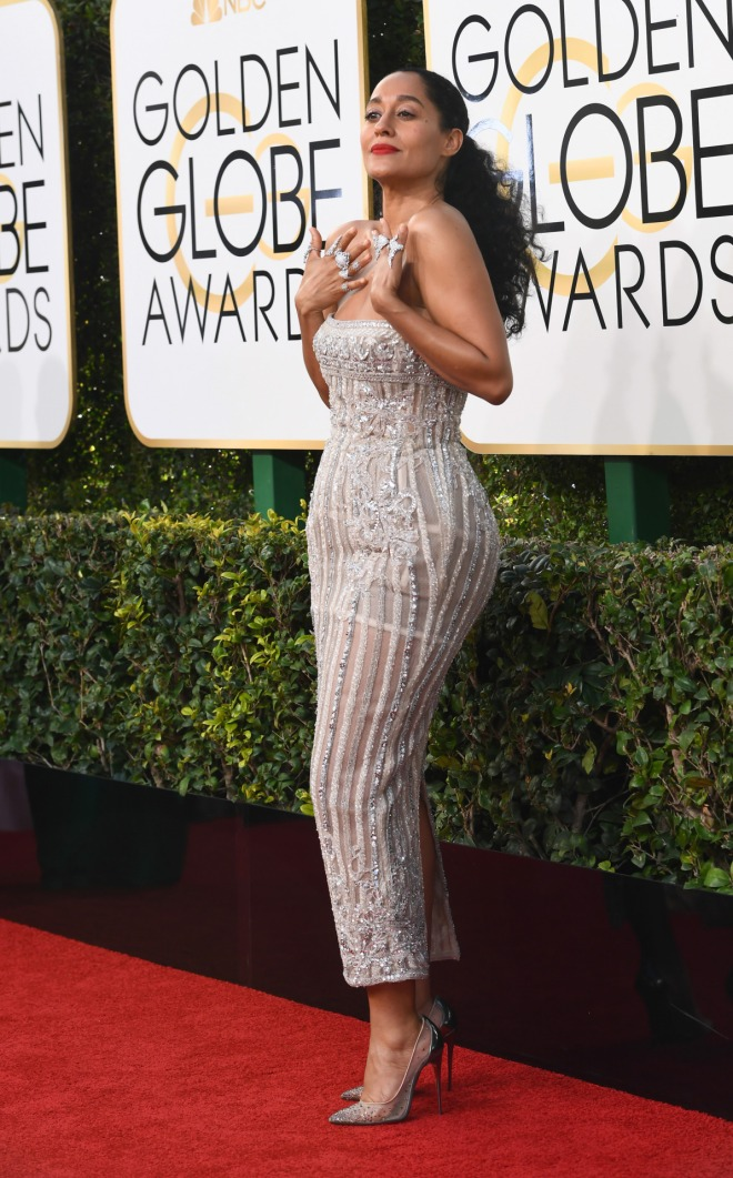 Mandatory Credit: Photo by Tyler Boye/WWD/REX/Shutterstock (7734782bj) Tracee Ellis Ross 74th Annual Golden Globe Awards, Arrivals, Los Angeles, USA - 08 Jan 2017